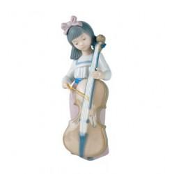 statuina la suonatrice di violoncello