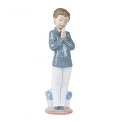 Bomboniera statuina la preghiera lui