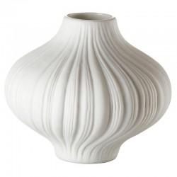 Vaso bianco 8cm plissee