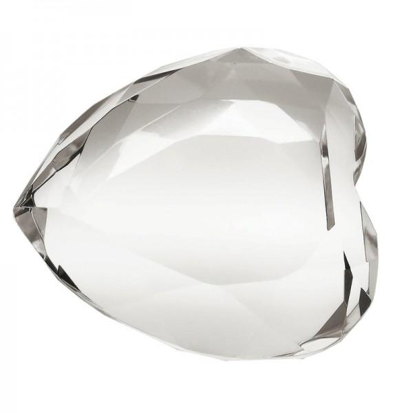 Bomboniera due cuori in cristallo