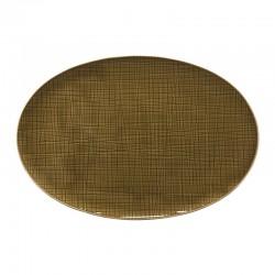 piatto ovale marrone 30cm mesh