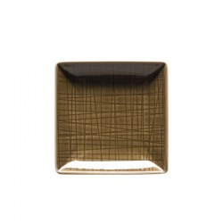 coppa quadrata marrone 10cm mesh