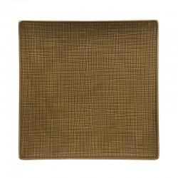 piatto piano quadrato marrone 27cm mesh