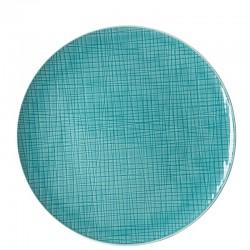 piatto piano verde acqua 30cm mesh