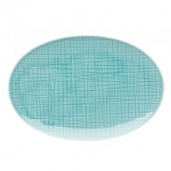 piatto ovale verde acqua 18cm mesh