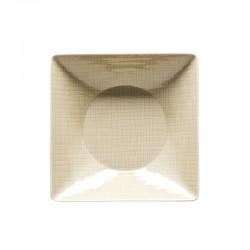 piatto fondo crema quadrato 20cm mesh