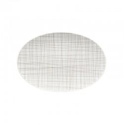 piatto ovale marrone 25cm mesh