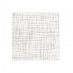 piatto quadrato marrone 22cm mesh