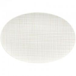 piatto ovale crema 38cm mesh