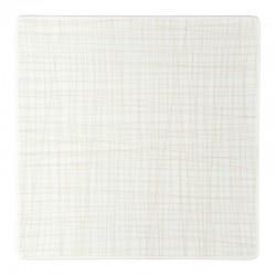 piatto piano quadrato crema 31cm mesh