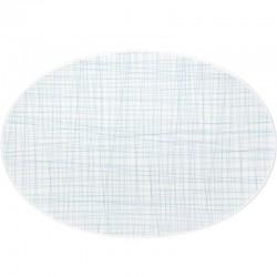 piatto ovale celeste 42cm mesh