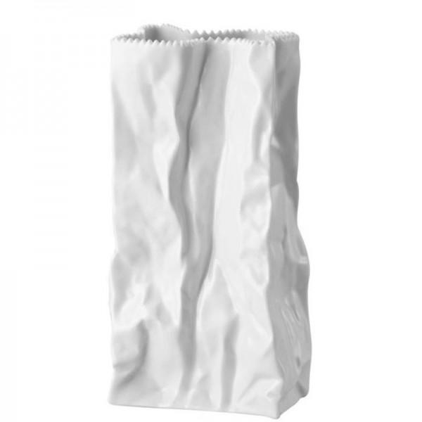 Vaso sacchetto bianco 18cm