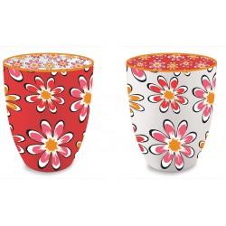 set 2 tazzine caffe fragola & arancio