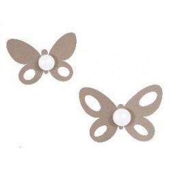 set gancio butterfly beige