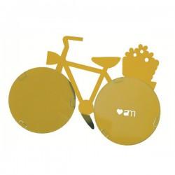 porta foto bici giallo limone