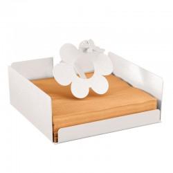 porta tovaglioli ape sul fiore bianco