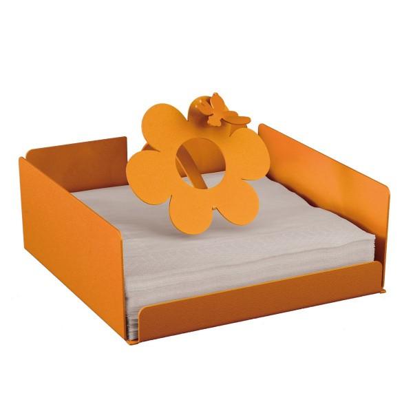 porta tovaglioli ape sul fiore arancio
