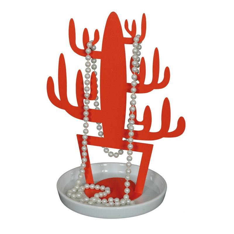 porta gioie cactus rosso pomodoro