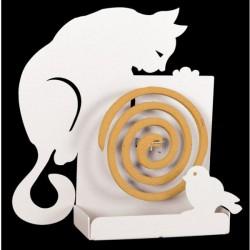 portazampirone gatto parete bianco