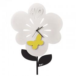 orologio fiorellino bianco