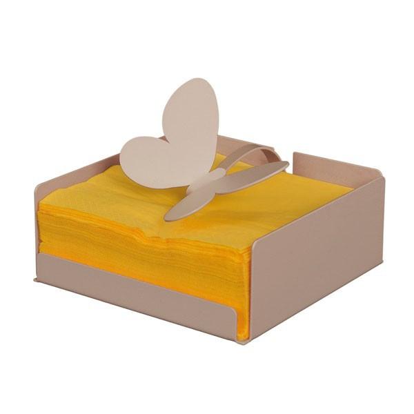 porta tovaglioli farfalla beige