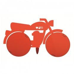 porta foto moto rossa