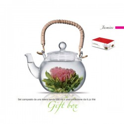 theiera vetro 500 ml con tea box 6pz jasmine