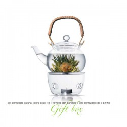 theiera 1000 ml con tea box 6pz e fornello jasmine