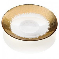 orizzonte centro cm 41 trasparente decoro oro