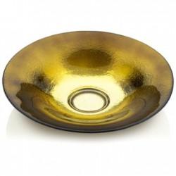 centrotavola specchiato oro verde