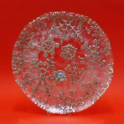 snow flake piatto cm 36 decoro argento