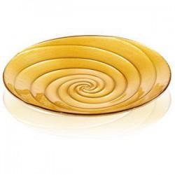 spiral centrotavola cm 41 decoro oro brillantini
