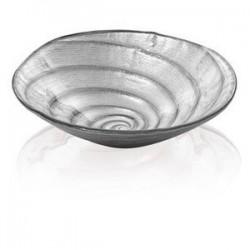 spiral coppetta cm 19 decoro argento brillantini