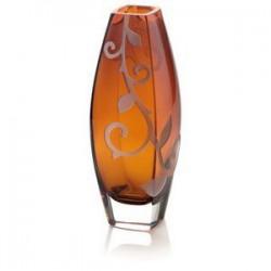 vaso ambra con decoro sabbiato