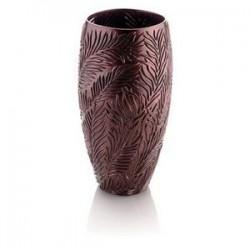 vaso marrone con foglie cm 35 amazzonia