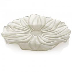 magnolia piatto cm37 decoro sabbia perlaceo