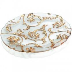 piatto ovale trasparente decorazione oro