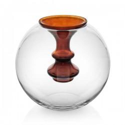 oasi vaso sfera con vasetto color cioccola
