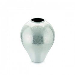 glamour vaso decoro bianco perlaceo h 25 cm