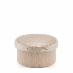 iroko scatola cm 25 altezza 13 cm base in legno