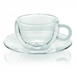 colors break set 2 pezzi tazza tè trasparente con m