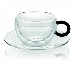 colors break set 2 pezzi tazza tè trasparente con ma