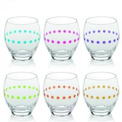 obelix set 6 bicchiere acqua cl40 colori assortit