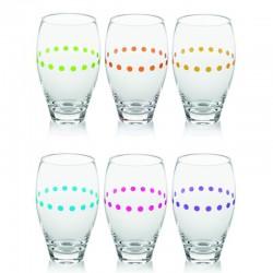 obelix set 6 bicchiere bibita cl43 colori assorti