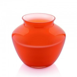 Vaso in vetro incamiciato arancio 21cm