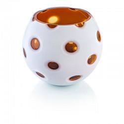 scultura vaso incamiciato ambra