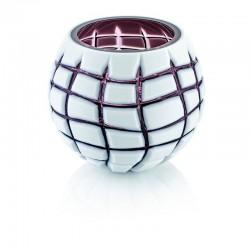 scultura vaso incamiciato viola