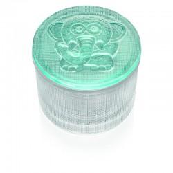 segreti scatolina trasparente con coperchio elefan