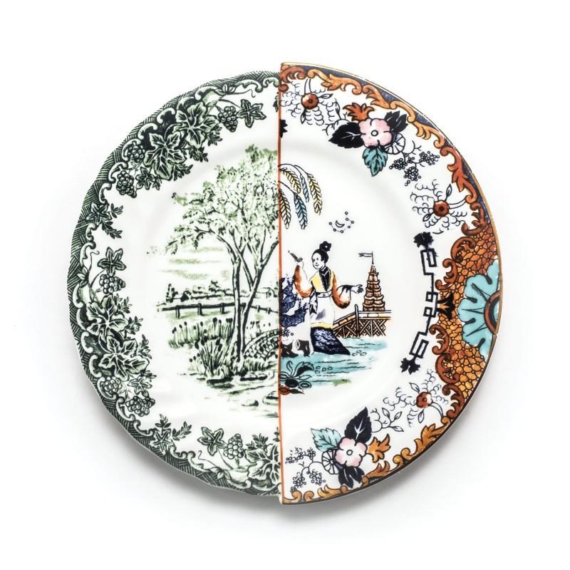 piatto piano in porcellana hybrid ipazia
