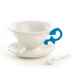 set da tè tea i-cup con manico blu